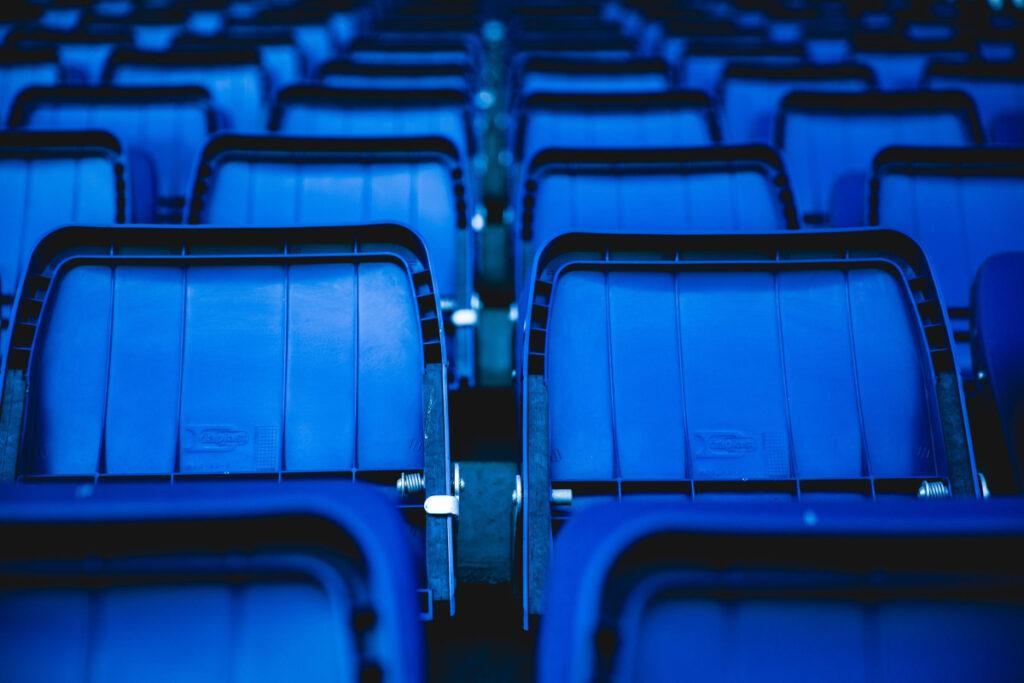 Empty seats in a stadium